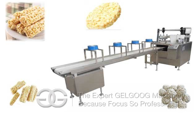 Swelled Rice Candy Bar|Grain Bar Making Machine Supplier