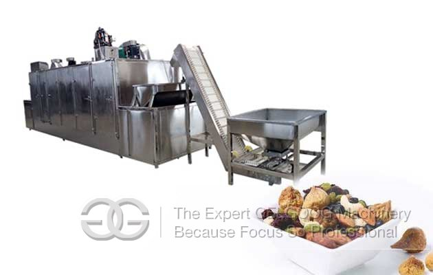 hazelnuts roasting machine